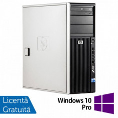 WorkStation HP Z400, Intel Xeon Quad Core W3520 2.66GHz-2.93GHz, 8GB DDR3, 500GB SATA, AMD Radeon HD 7350 1GB GDDR3, DVD-RW + Windows 10 Pro