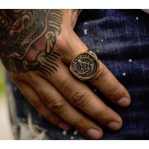 Inel barbati SKULL craniu cap mort schelet biker punk rock inox steel