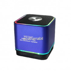 Mini Boxa cu Lumini, USB, Bluetooth, Radio si Acumulator WS159A