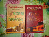 Dan Brown - Codul lui Da Vinci + Ingeri si demoni - cartonate