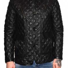 Haina barbati, din piele naturala, marca Kurban, 444-01-95, negru , marime: XL