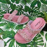 Cumpara ieftin Sandale roz moi si elegante cu pietricele pt fetite 24 25 26 27 cod 0785, Fete