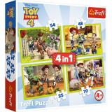 Puzzle Trefl 4In1 Eroii Toystory4 In Actiune