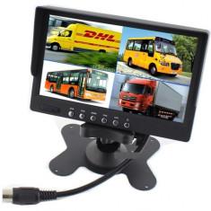 Display auto de 7 inch cu 4 canale, 12V - 24V, D710 cu telecomanda