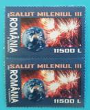 TIMBRE ROMANIA 2001 L.P.1539 SALUT MILENIUL III SET DE 2 SERII MNH**, Nestampilat