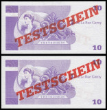 !!! GERMANIA , DE LA  RUE GARNY = ATM TEST NOTE 10 MARCI -  UNC