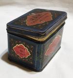 Cutie veche de colectie tabla litografiata datata 1938-46