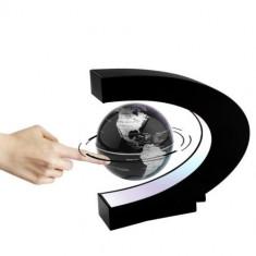 Glob pamantesc levitant, cu leduri, magnetic, negru, Gonga