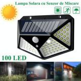 Lampa de perete solara si senzor de miscare cu 100 Leduri, Oem
