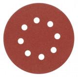 Disc din panza abraziva cu 8 gauri 125 mm granulatie 80 VOREL