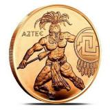 Moneda cupru 999 lingou, Aztec razboinic 29 grame