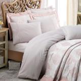 SET LUXURY Cottonbox Platinum Series: Cuvertura si Lenjerie de pat King din bumbac 100% Luna Gri