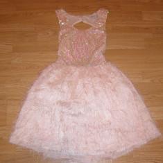 costum carnaval serbare rochie dans gala pentru copii de 7-8 ani