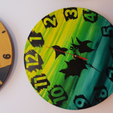 "Ceas de perete pictat ""Abstract"" - handmade - artizanat - cadou deosebit"
