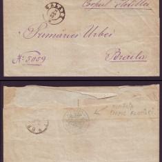 1883 Romania, Scrisoare Corpul Flotilei GALATI la BRAILA, stampila tip sigiliu