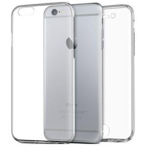 Husa Full TPU 360° (fata + spate) pentru iPhone 6 / 6S, Transparent