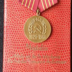 Medalia 40 de ani de la infiintarea Partidului Comunist Roman decoratie la cutie