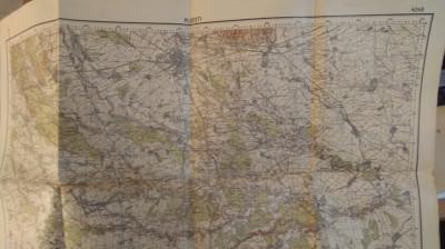 Hartă Ploești - retipărită în 1940 foto