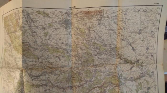 Hartă Ploești - retipărită în 1940