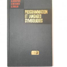 Programmation et langages symboliques - N. Krinitski, G. Mironov, G. Frolov