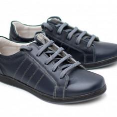 Pantofi / Tenisi barbati sport - casual bleumarin din piele naturala - ADTIMBL