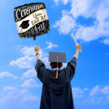 Balon folie Congrats Graduate, party absolvire, diametru 41 cm, negru