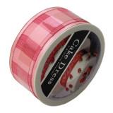 Cumpara ieftin Banda decorativa textila Cake Dress, pentru torturi si prajituri, 4.5cm x 10m, Champagne roz