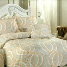 Cuvertura de pat + 4 Fete de Perna - Pat 2 Persoane - 100% Bumbac - E-S33