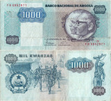 1987 ( 11 XI ) , 1.000 kwanza ( P-121b ) - Angola