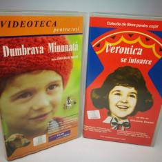 """Set 2 casete video: """"Veronica se întoarce"""" şi """"Dumbrava Minunata."""", Caseta video, Romana"""