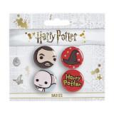 Set 4 insigne licenta Harry Potter Hagrid si Dobby