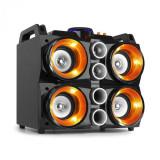 """Fenton MDJ200, stație de petrecere, 150W, 4x4"""" boxe, baterii de 2000mAh, negru și portocaliu"""