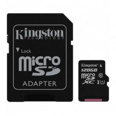 Microsdxc kingston 128gb canvas select 80r clasa 10 uhs-i r/w
