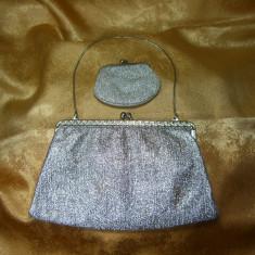 Poseta clutch Belle Epoque, fir argint, vintage