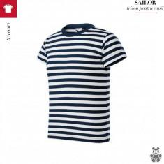 Tricou Sailor, copii din bumbac 100%, 10-11 ani, 4-5 ani, 6-7 ani, 7-8 ani, 9-10 ani, Bleumarin, Unisex