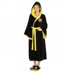Halat Hufflepuff Harry Potter Ladies Black Fleece Robe