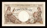 ROMANIA -  500 LEI  - 1938 . Bancnota superba si rara in aceasta stare