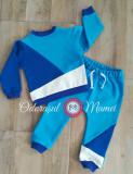 Trening 3 culori bumbac bebelusi – azur, albastru royal, alb