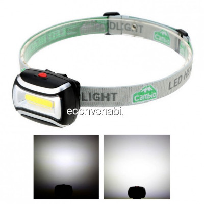 Lanterna Frontala COB LED 3W cu Baterii CH2016 foto