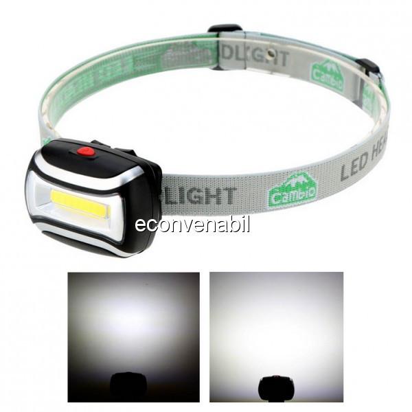 Lanterna Frontala COB LED 3W cu Baterii CH2016