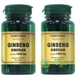 Ginseng Siberian 1000mg Premium Pachet 60cps+30cps Gratis
