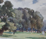 stefan luchian - peisaj - tablou vechi - acuarela - autentificat