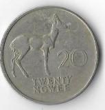 Moneda 20 ngwee 1972 - Zambia