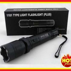 Lanterna cu Electrosoc 20.000 KV led POLICE metal, Cu lanterna