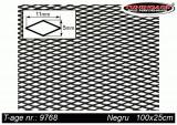Grila spoiler aluminiu neagra 100x25cm, ochi : 11x5 mm - motorvip - 9768