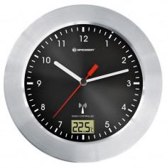 Ceas de perete cu termometru Bresser MyTime RC, ecran analogic