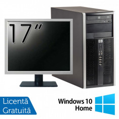 Calculator HP 6200 Tower, Intel Pentium G645 2.90GHz, 4GB DDR3, 250GB SATA, DVD-ROM + Monitor 17 Inch + Windows 10 Home (Top Sale!)