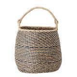Cumpara ieftin Cos pentru depozitare din iarba de mare, Cherstin Natural / Negru, Ø38xH35 cm