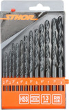Set 13 burghie pentru metal HSS 2 mm-8 mm STHOR