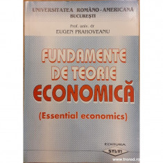 Fundamente de teorie economica (Essential economics)